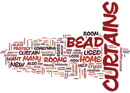 BEAD DESIGNS Text Background Word Cloud Concept Illustration