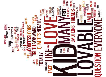 ARE YOU LOVABLE Text Background Word Cloud Concept