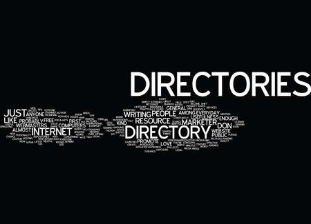 anyone: ARTICLE DIRECTORY ANYONE Text Background Word Cloud Concept Illustration