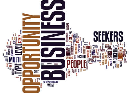 ARE YOU A BUSINESS OPPORTUNITY SEEKER Text Background Word Cloud Concept