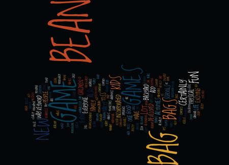 BEAN BAG LAP DESK Text Background Word Cloud Concept Ilustração