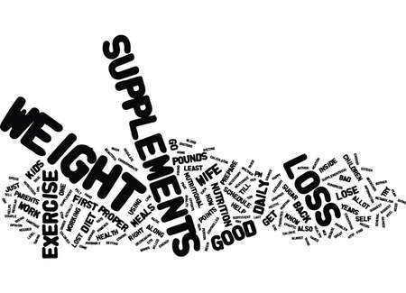 ARE WEIGHT LOSS SUPPLEMENTS RIGHT FOR YOU Text Background Word Cloud Concept