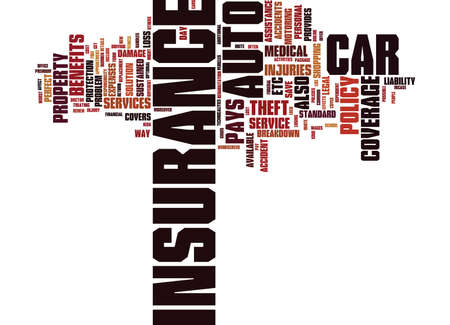 AUTO INSURANCE RISK YOUR CAR FREE Text Background Word Cloud Concept