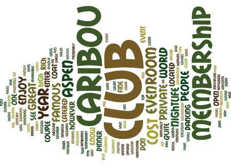 ASPEN NACHTLEVEN DE CARIBOU CLUB Tekst Achtergrond Word Cloud Concept