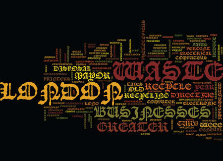 ASSET DISPOSAL IN GREATER LONDON Text Background Word Cloud Concept Ilustração