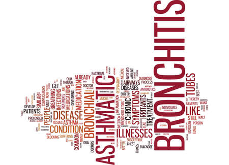 ASTHMATIC BRONCHITIS Text Background Word Cloud Concept Çizim