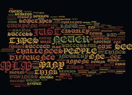 ARE YOU AN MLM CASUALTY Text Background Word Cloud Concept Illustration