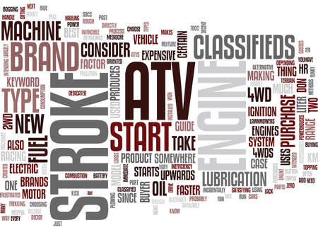 ATV CLASSIFIED Text Background Word Cloud Concept Illustration