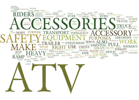 ATV ACCESSORIES Text Background Word Cloud Concept