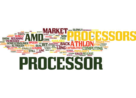 ATHLON PROCESSORS Text Background Word Cloud Concept