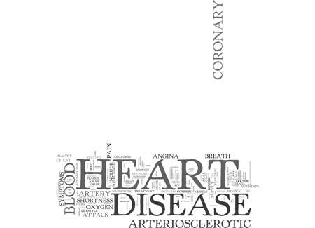 ARTERIOSCLEROTIC HEART DISEASE Text Background Word Cloud Concept