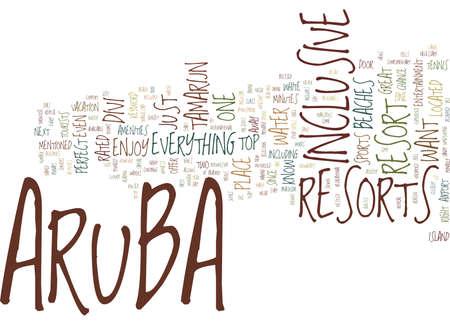 ARUBA RESORTS Text Background Word Cloud Concept