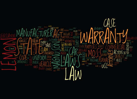 AUTO LEMON LAWS Tekst Achtergrond Word Cloud Concept