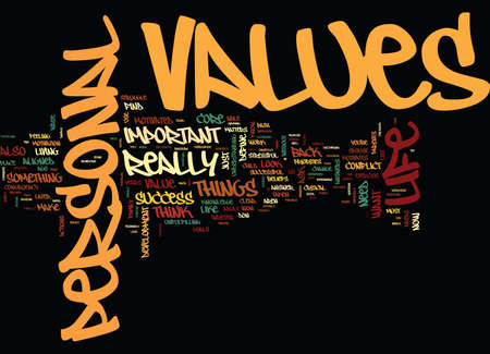 ARE YOUR PERSONAL VALUES ALIGNED WITH YOUR PATH TO SUCCESS Text Background Word Cloud Concept