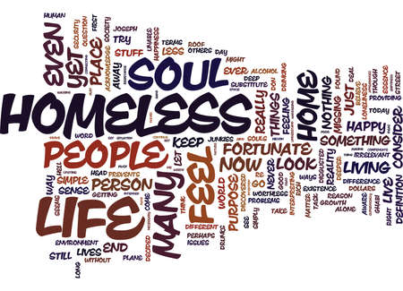 ARE YOU HOMELESS DOES YOUR SOUL HAVE A HOME Text Background Word Cloud Concept