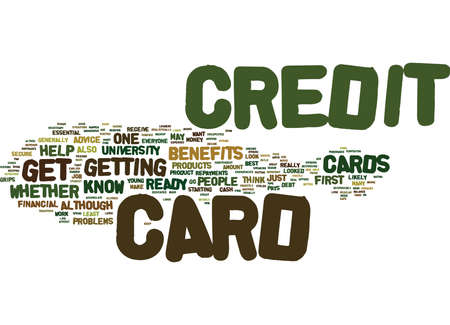 ARE YOU READY FOR A CREDIT CARD Text Background Word Cloud Concept