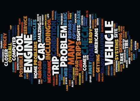 opting: ARE YOU ROAD TRIP READY Text Background Word Cloud Concept