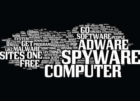 ARE YOU ONE OF THE AFFECTED BY SPYWARE OR ADWARE Text Background Word Cloud Concept