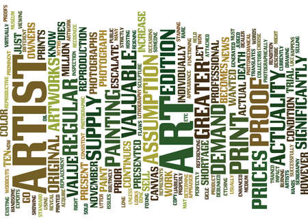 ART MYTHS DEBUNKED Text Background Word Cloud Concept