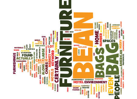 BEAN BAG GAME Text Background Word Cloud Concept Ilustração