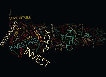 ARE YOU READY TO INVEST Text background in word cloud concept