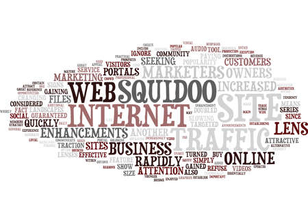 ATTRACTIVE ENHANCEMENTS FOR YOUR SQUIDOO LENS Text background in word cloud concept