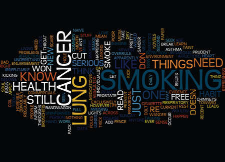ARTICLES ON LUNG CANCER Text background in word cloud concept