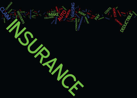 AUTO INSURANCE TIPS Text Background Word Cloud Concept Ilustração