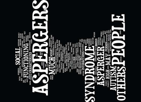 ASPERGERS SYNDROME Text Background Word Cloud Concept Иллюстрация