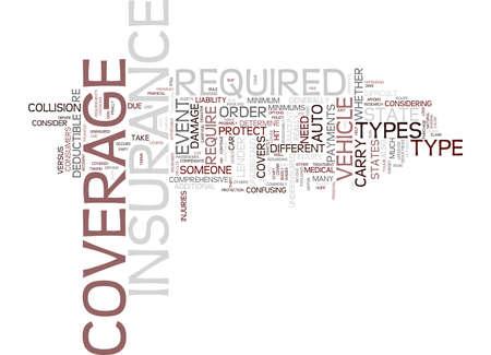 自動車保険は、本文背景単語クラウド コンセプトを説明しました。
