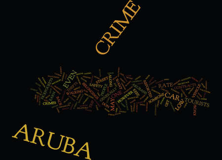 ARUBA CRIME Text Background Word Cloud Concept