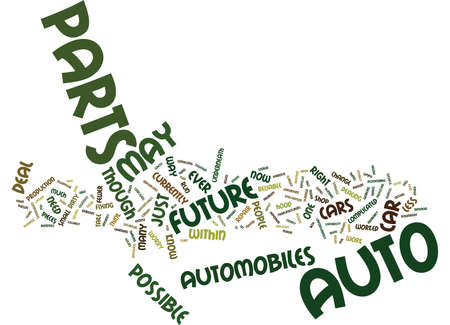 AUTO PARTS OF THE FUTURE Text Background Word Cloud Concept