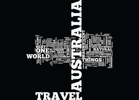 AUSTRALIA TRAVEL Text Background Word Cloud Concept