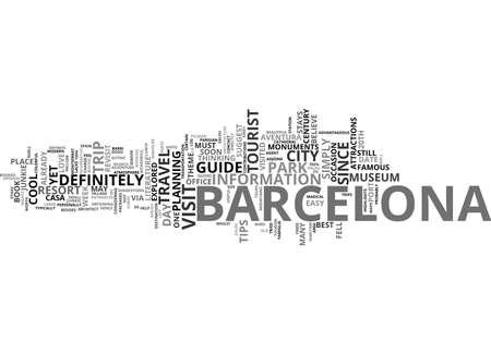 BARCELONA TOUR Text Background Word Cloud Concept