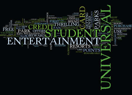 ARE YOU A FAN OF UNIVERSAL THEME PARKS Text Background Word Cloud Concept