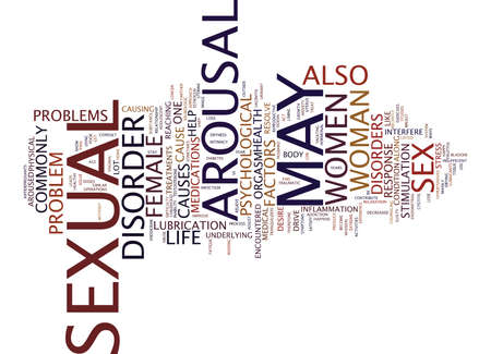 AROUSAL DISORDERS A CURSE TO ONE S SEX LIFE Text Background Word Cloud Concept