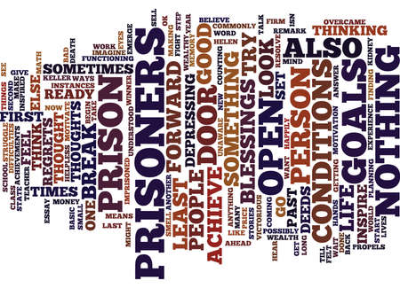 ARE WE OUR OWN PRISONERS Text Background Word Cloud Concept