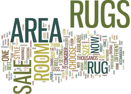 AREA RUGS FOR SALE Text Background Word Cloud Concept Illustration