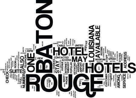 BATON ROUGE JOBS Text Background Word Cloud Concept Illustration