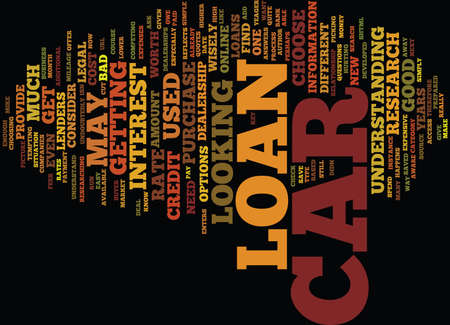 ARE YOU IN THE MARKET FOR A CAR LOAN Text Background Word Cloud Concept