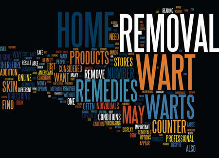 AT HOME WART REMOVAL Text Background Word Cloud Concept