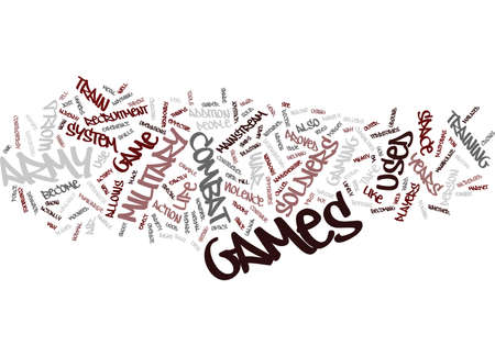 ARMY GAMES Text Background Word Cloud Concept