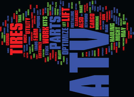 fairly: ATV PARTS Text Background Word Cloud Concept