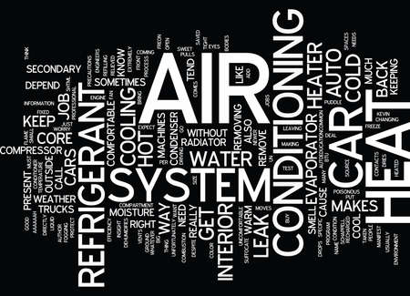 AUTO HVAC Text Background Word Cloud Concept