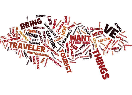 carried: ARE YOU A TRAVELER Text Background Word Cloud Concept Illustration