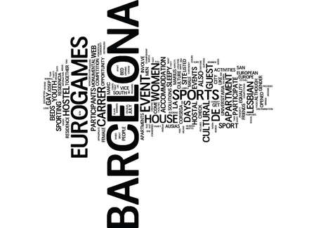 BARCELONA SPAIN SO MUCH FUN IN ONE DAY Text Background Word Cloud Concept