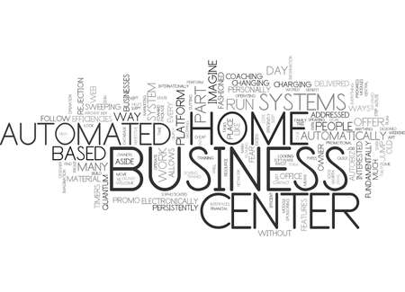 automated: AUTOMATED BUSINESS CENTER SYSTEMS Text Background Word Cloud Concept