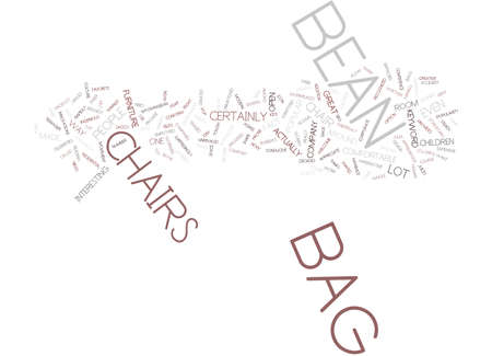BEAN BAG COUCH Text Background Word Cloud Concept