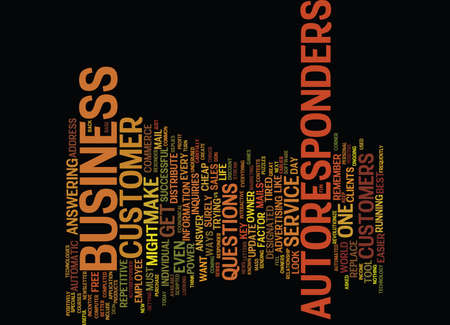 AUTOMATIC RESPONDER THE POWER OF AUTORESPONDERS Text Background Word Cloud Concept