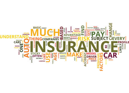 AUTO INSURANCE WHICH ONE Text Background Word Cloud Concept